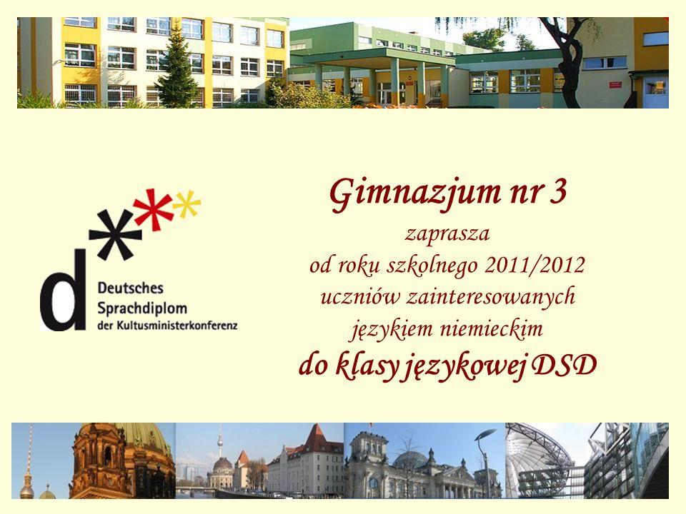 Gimnazjum nr 3 do klasy językowej DSD