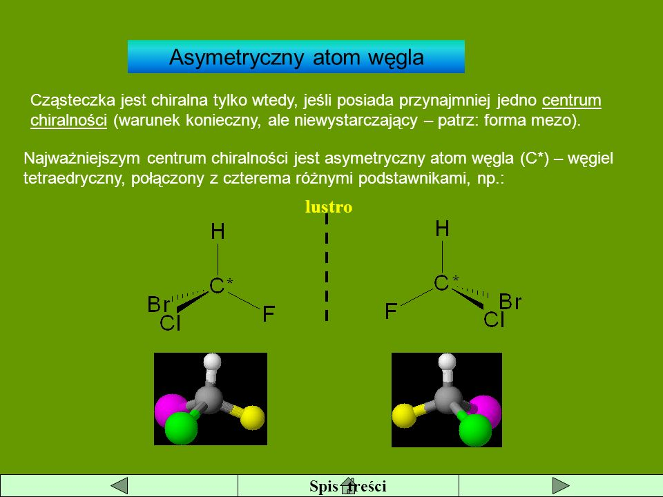 Asymetryczny atom węgla