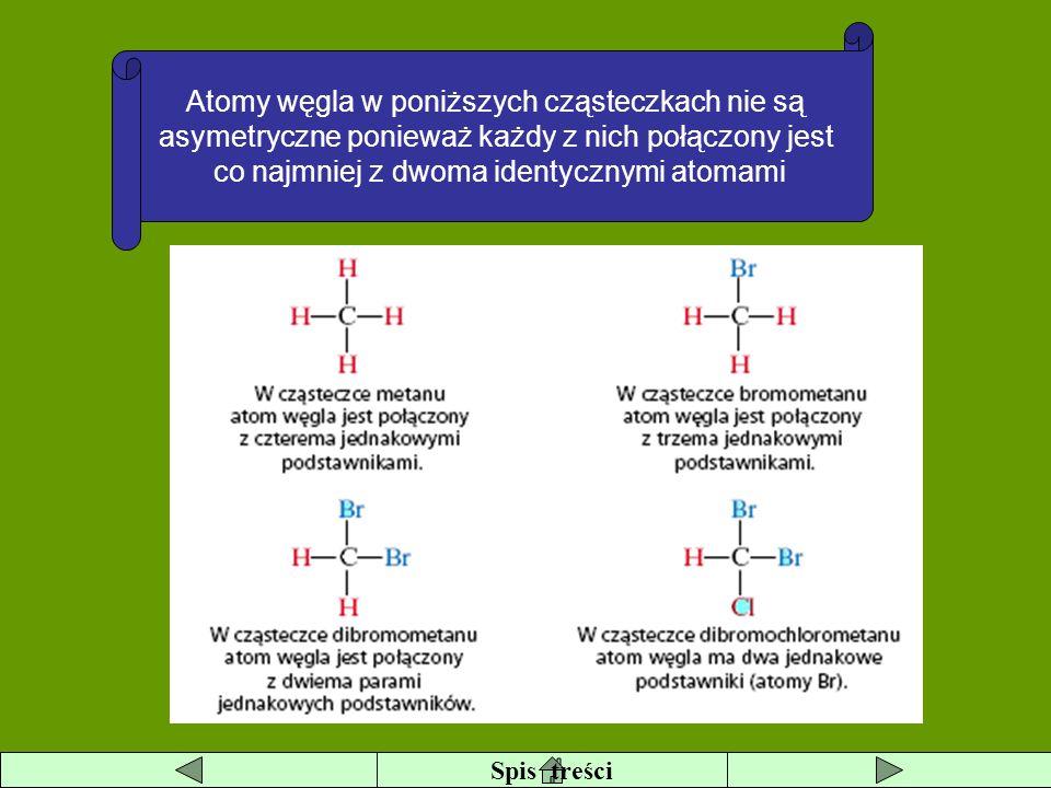 Atomy węgla w poniższych cząsteczkach nie są