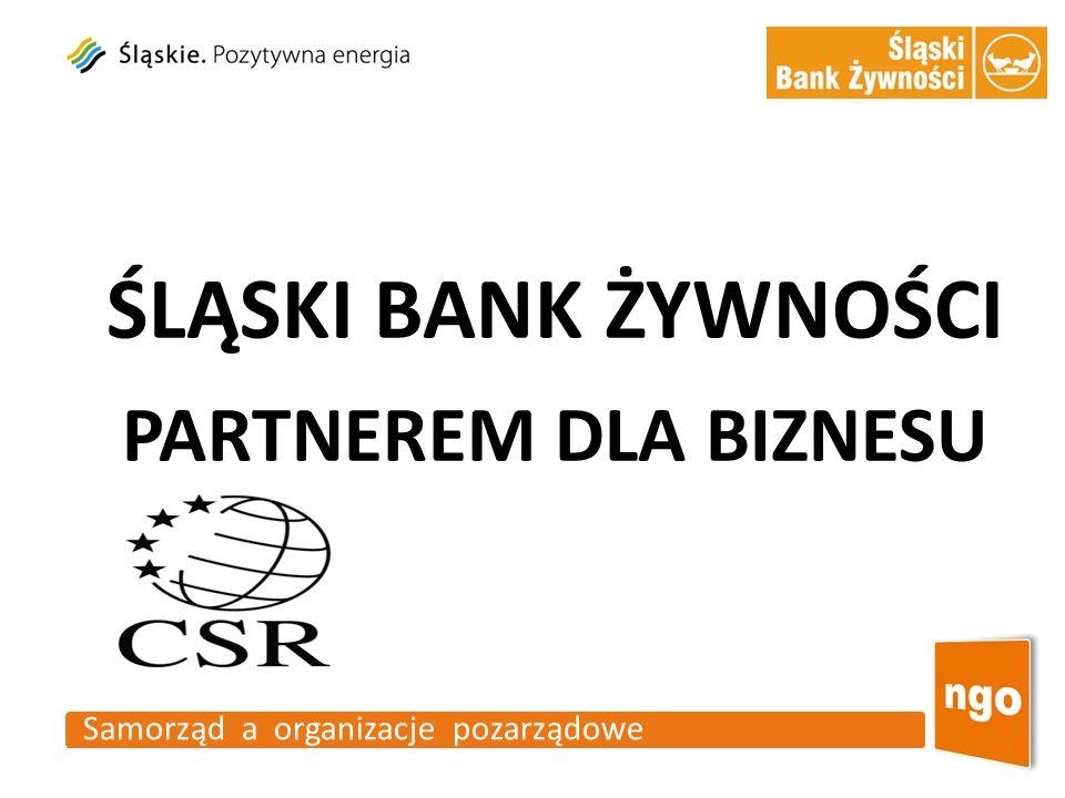 ŚLĄSKI BANK ŻYWNOŚCI PARTNEREM DLA BIZNESU