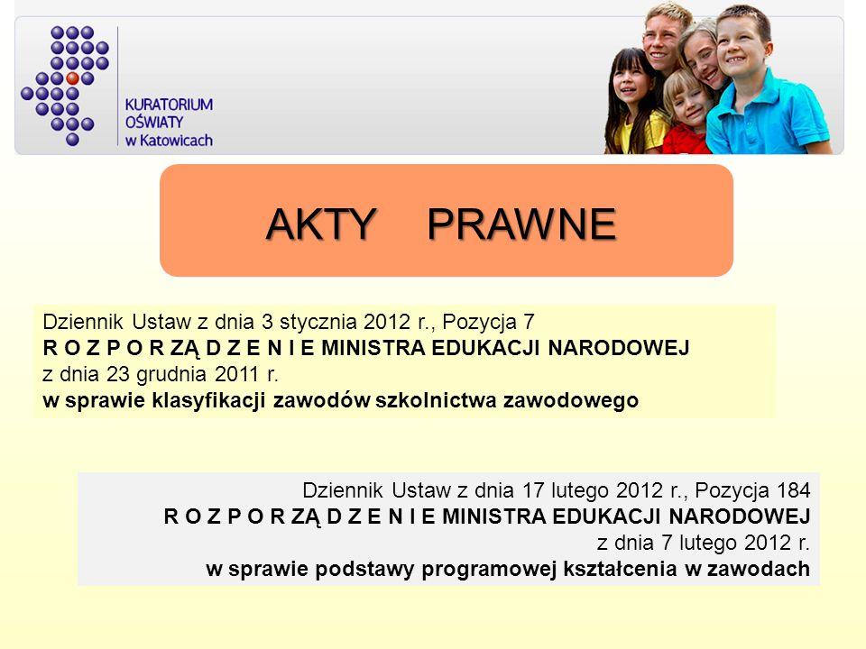 AKTY PRAWNE Dziennik Ustaw z dnia 3 stycznia 2012 r., Pozycja 7