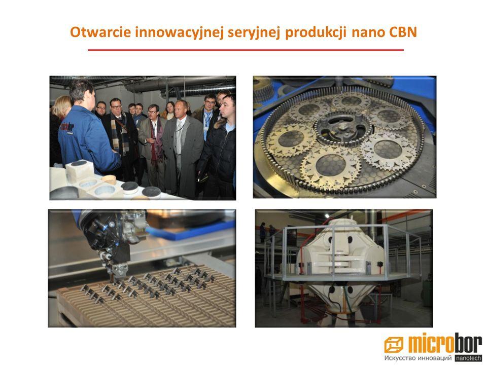 Otwarcie innowacyjnej seryjnej produkcji nano CBN