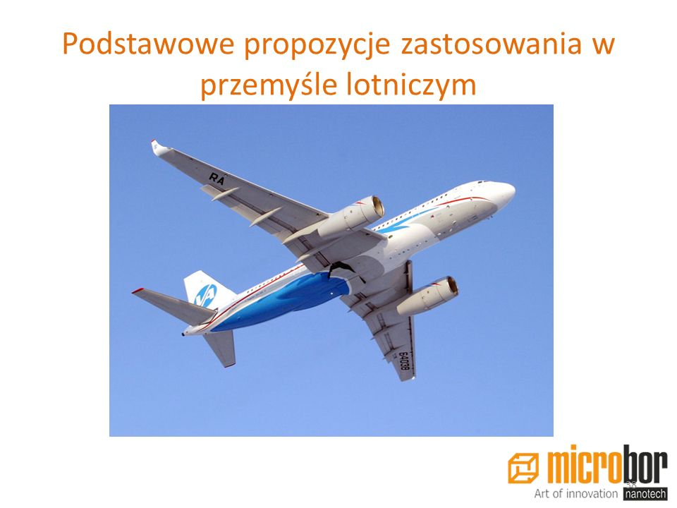 Podstawowe propozycje zastosowania w przemyśle lotniczym