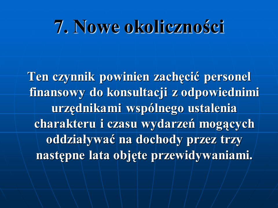 7. Nowe okoliczności