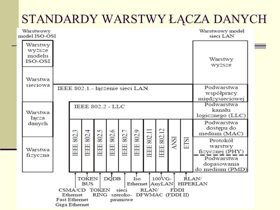 STANDARDY WARSTWY ŁĄCZA DANYCH