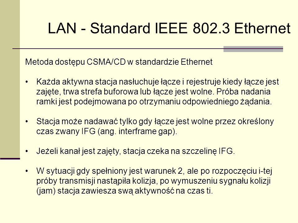 LAN - Standard IEEE 802.3 Ethernet