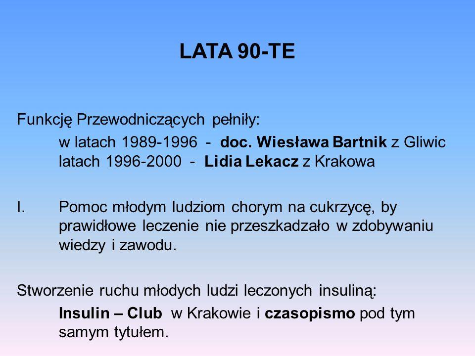 LATA 90-TE Funkcję Przewodniczących pełniły: