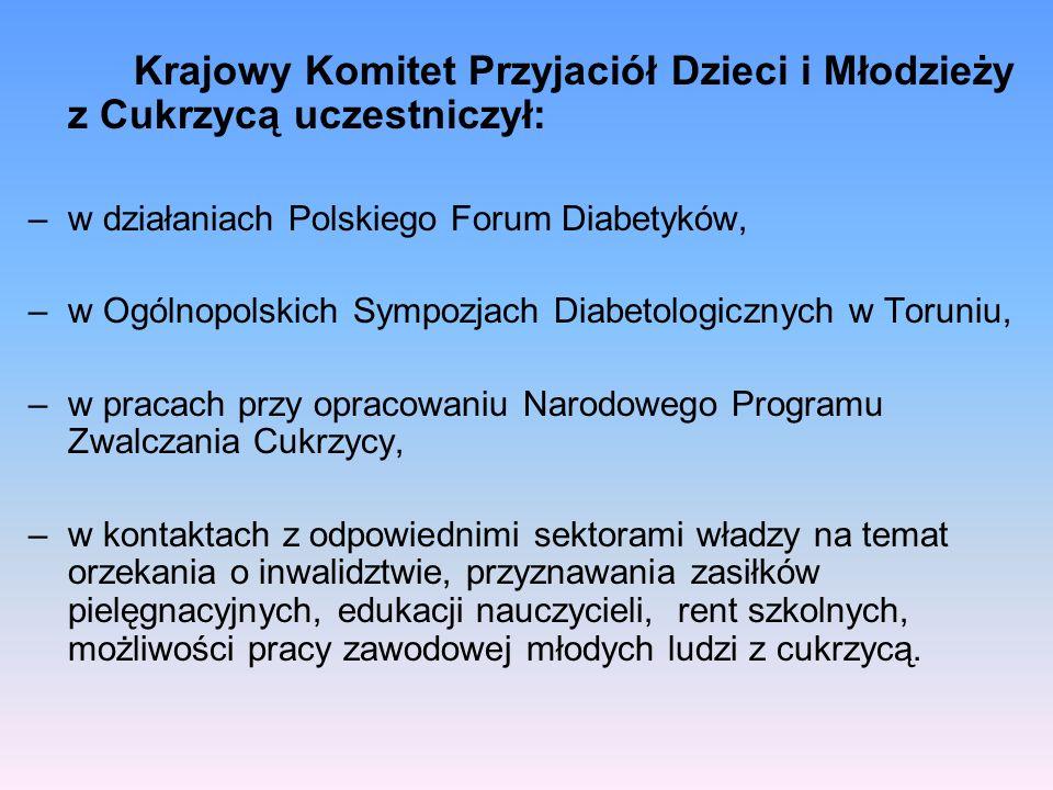 Krajowy Komitet Przyjaciół Dzieci i Młodzieży z Cukrzycą uczestniczył: