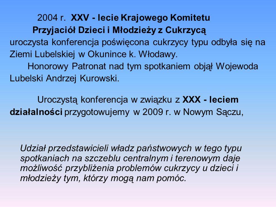 2004 r. XXV - lecie Krajowego Komitetu