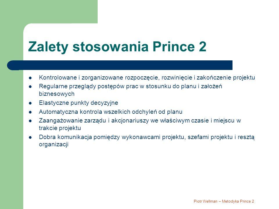 Zalety stosowania Prince 2