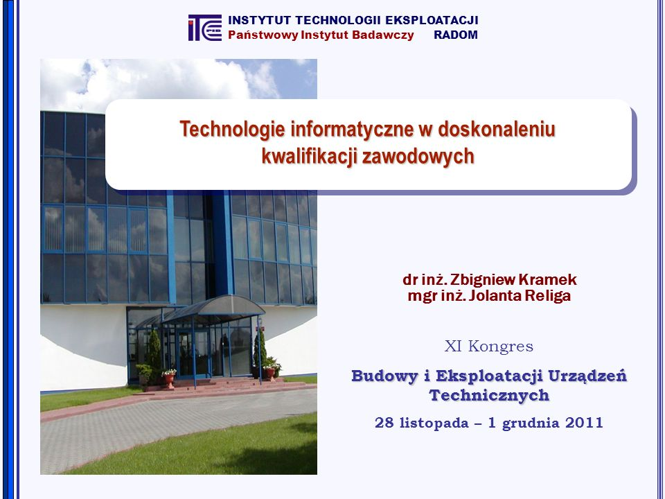 Technologie informatyczne w doskonaleniu kwalifikacji zawodowych