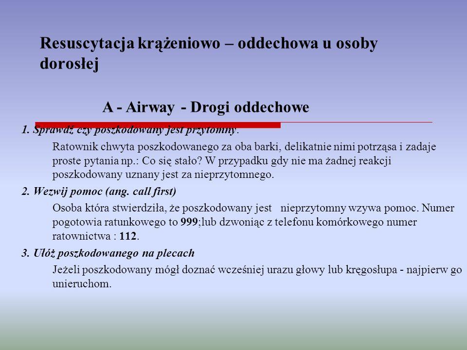 Resuscytacja krążeniowo – oddechowa u osoby dorosłej