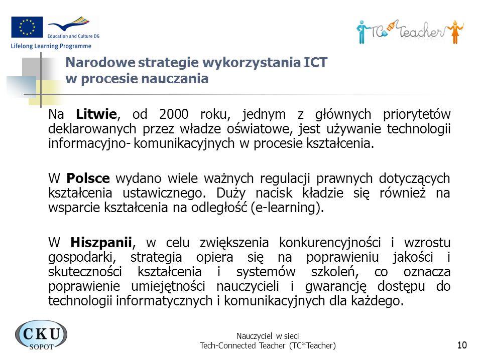 Narodowe strategie wykorzystania ICT w procesie nauczania