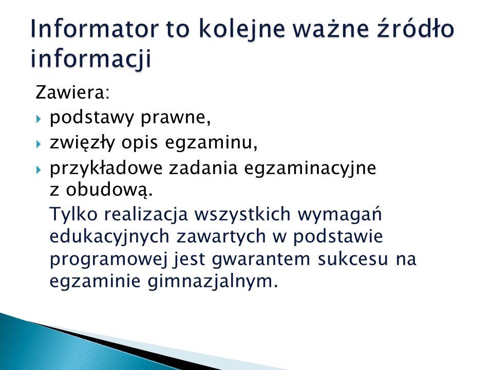 Informator to kolejne ważne źródło informacji