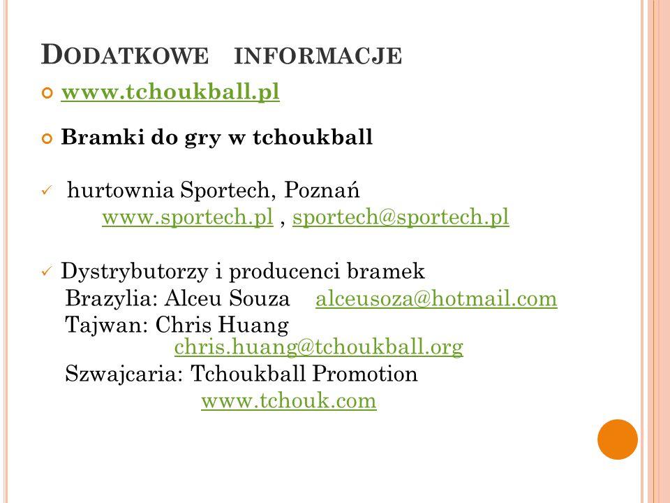 Dodatkowe informacje www.tchoukball.pl hurtownia Sportech, Poznań