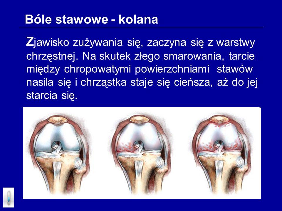Bóle stawowe - kolana