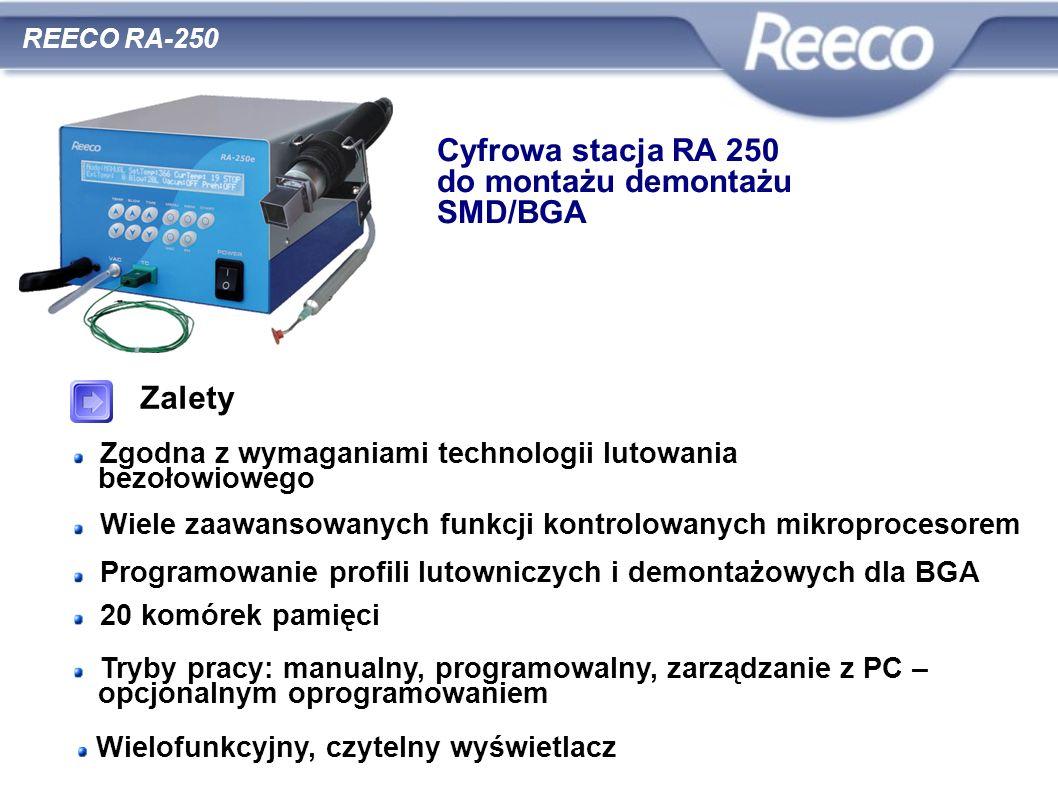 Cyfrowa stacja RA 250 do montażu demontażu SMD/BGA Zalety