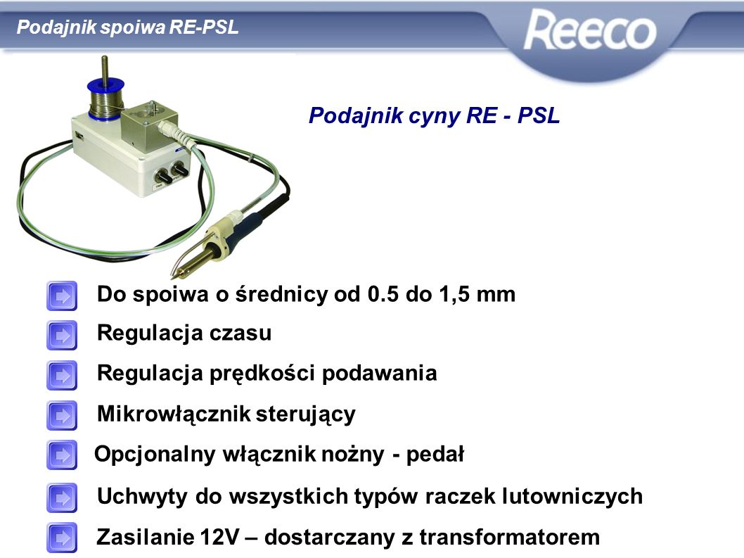 Do spoiwa o średnicy od 0.5 do 1,5 mm