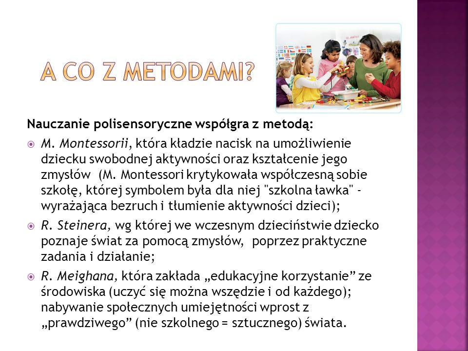 A co z metodami Nauczanie polisensoryczne współgra z metodą: