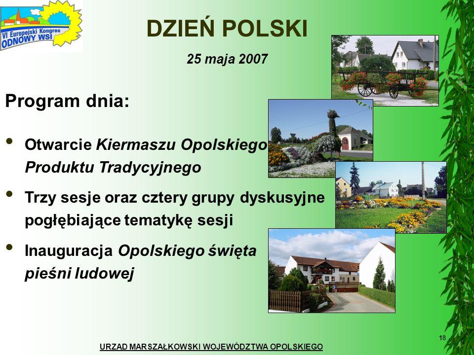 DZIEŃ POLSKI Program dnia: