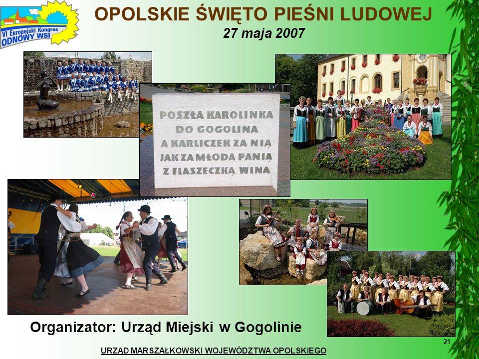 OPOLSKIE ŚWIĘTO PIEŚNI LUDOWEJ 27 maja 2007