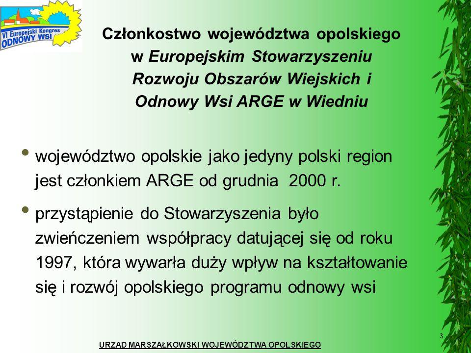 Członkostwo województwa opolskiego w Europejskim Stowarzyszeniu Rozwoju Obszarów Wiejskich i Odnowy Wsi ARGE w Wiedniu