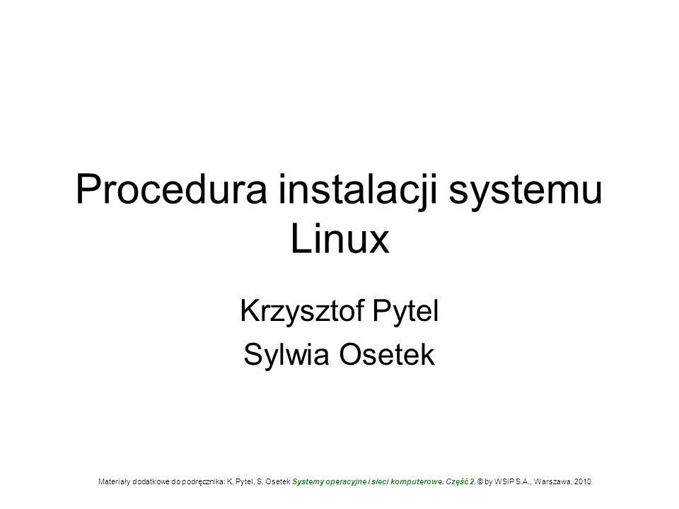 Procedura instalacji systemu Linux
