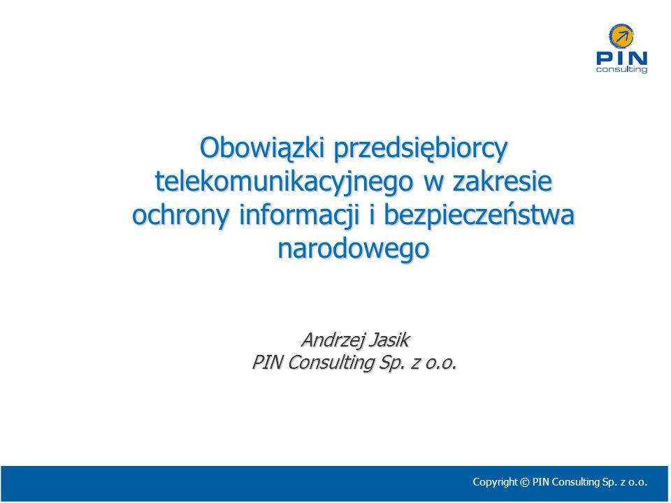 Obowiązki przedsiębiorcy telekomunikacyjnego w zakresie ochrony informacji i bezpieczeństwa narodowego