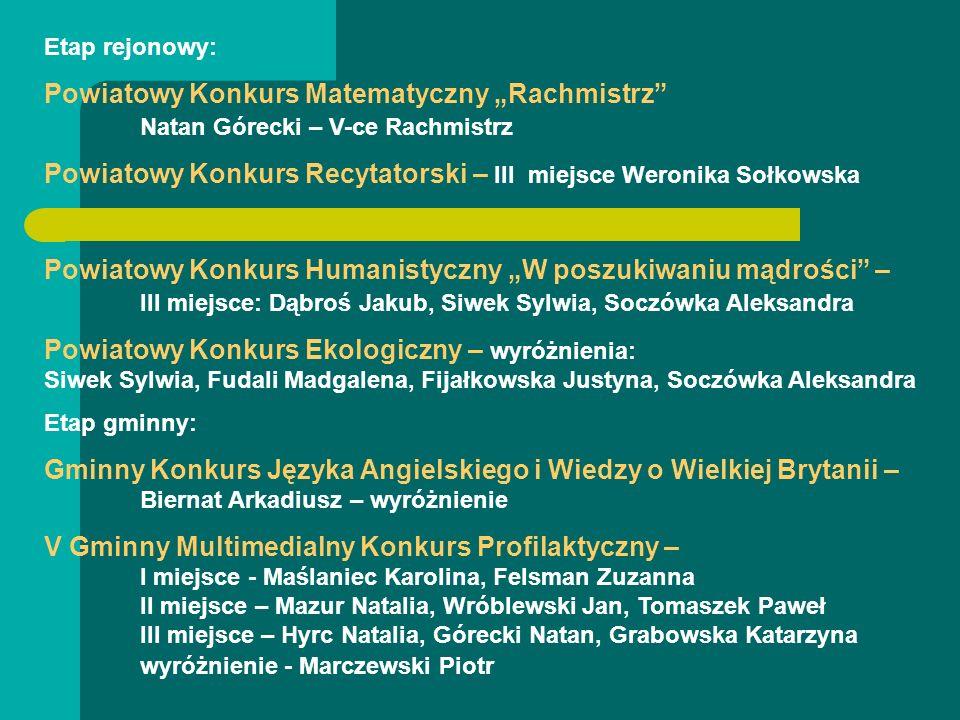 Powiatowy Konkurs Recytatorski – III miejsce Weronika Sołkowska