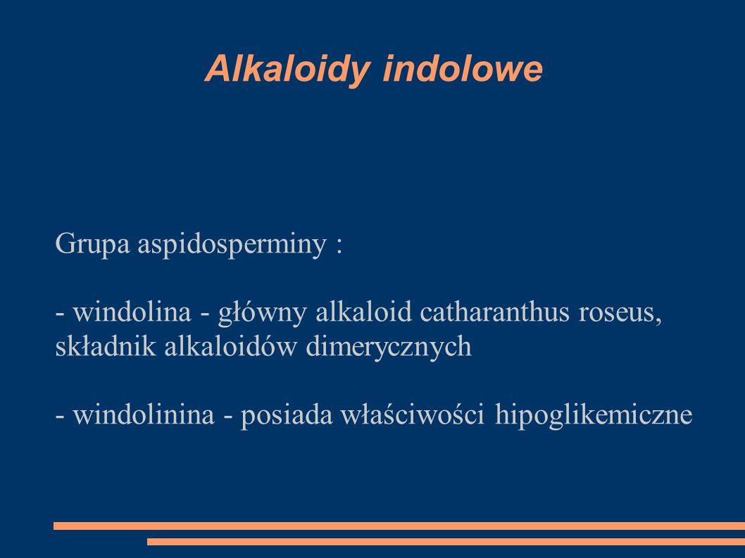 Alkaloidy indolowe Grupa aspidosperminy :