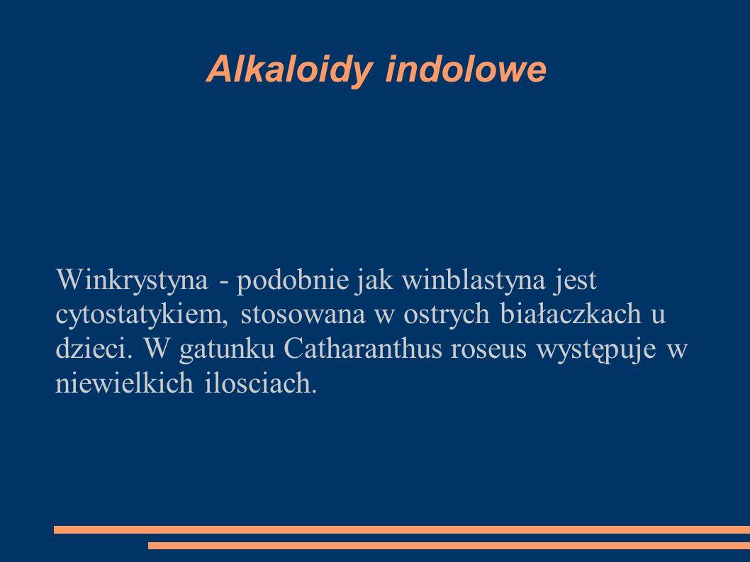 Alkaloidy indolowe