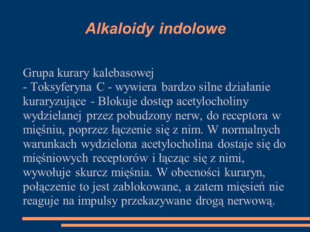Alkaloidy indolowe Grupa kurary kalebasowej