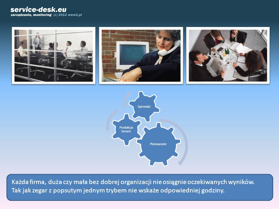 PlanowanieProdukcja Serwis. Sprzedaż. Każda firma, duża czy mała bez dobrej organizacji nie osiągnie oczekiwanych wyników.