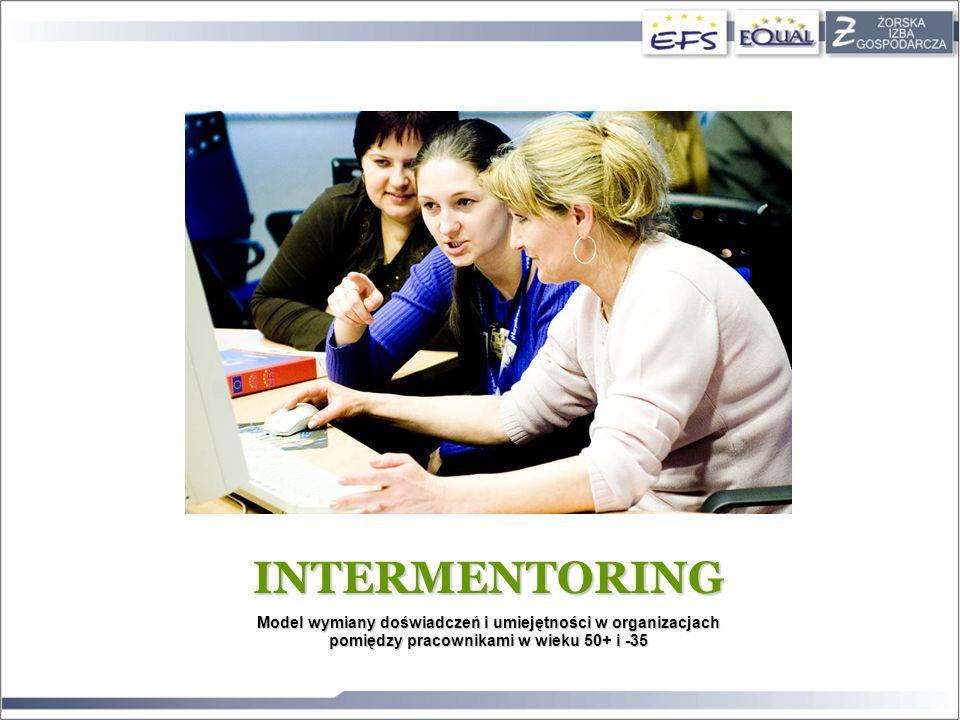 INTERMENTORING Model wymiany doświadczeń i umiejętności w organizacjach pomiędzy pracownikami w wieku 50+ i -35.