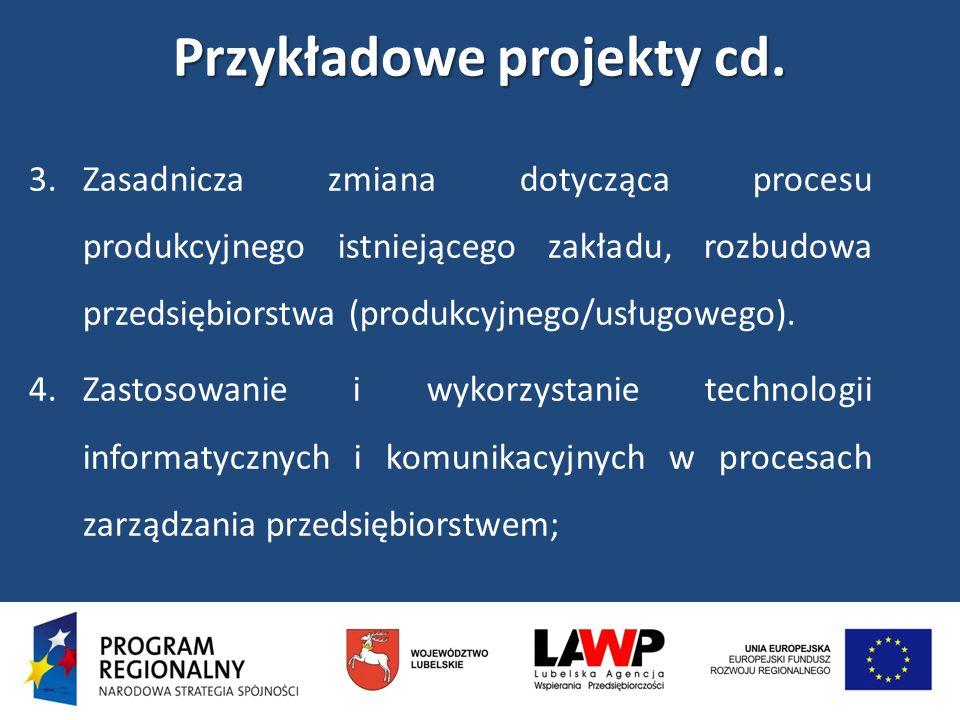 Przykładowe projekty cd.