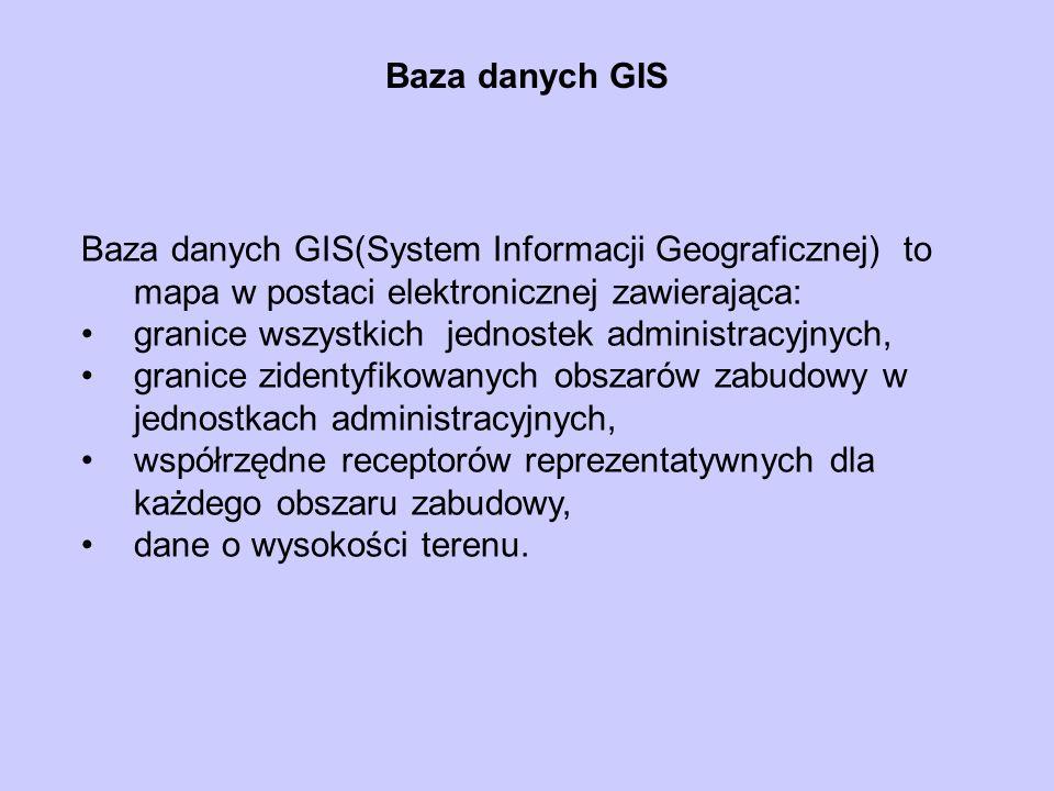 Baza danych GIS Baza danych GIS(System Informacji Geograficznej) to mapa w postaci elektronicznej zawierająca: