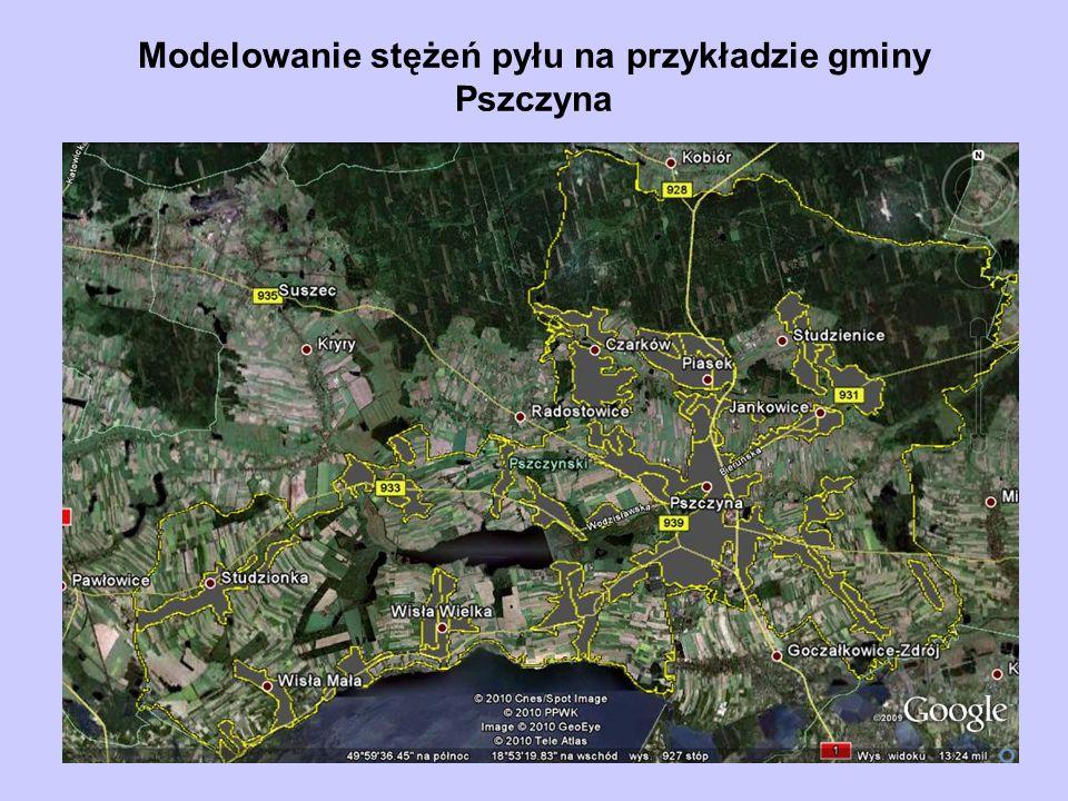 Modelowanie stężeń pyłu na przykładzie gminy Pszczyna