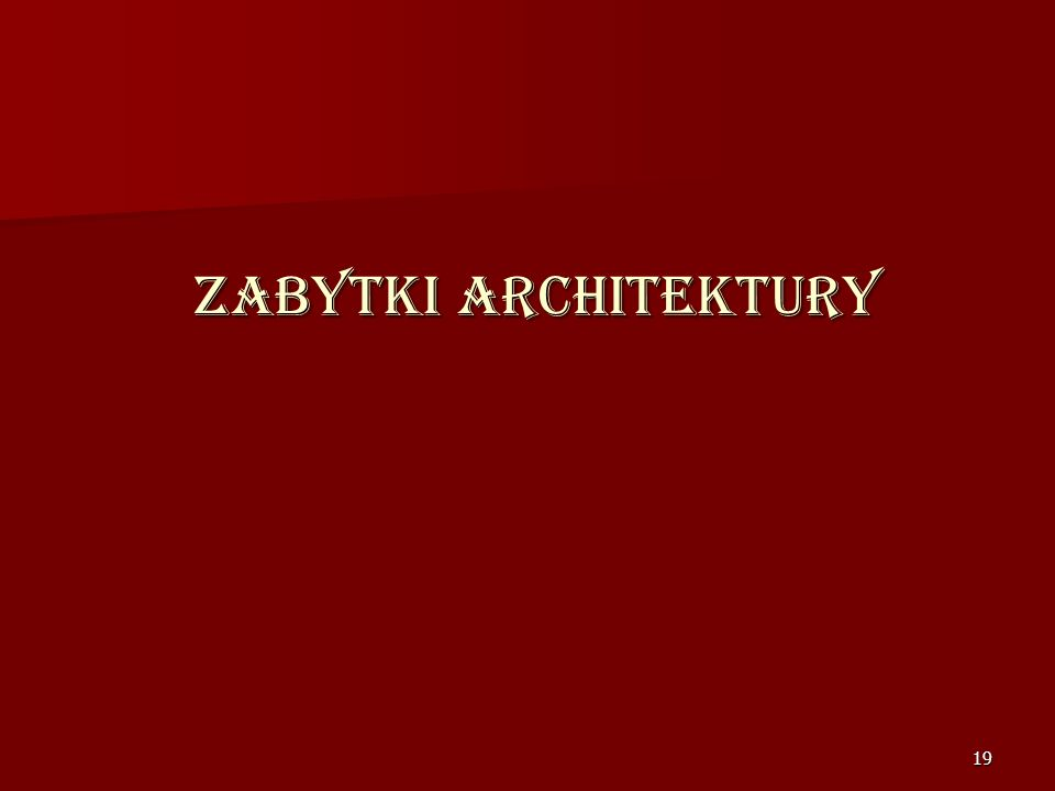 Zabytki architektury