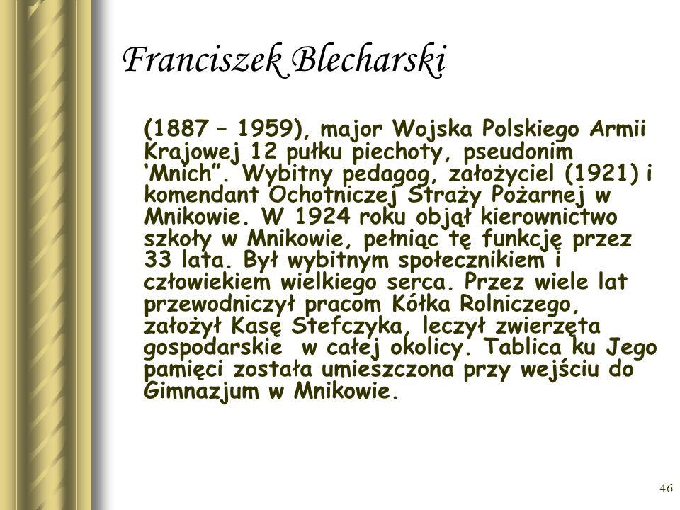 Franciszek Blecharski