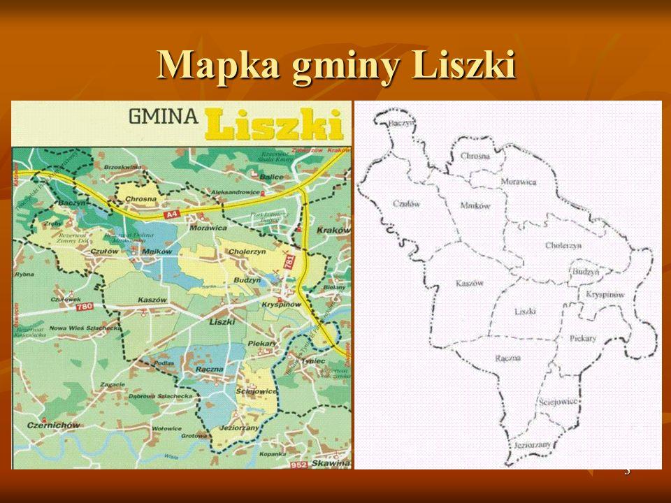 Mapka gminy Liszki