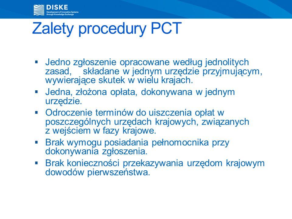 Zalety procedury PCT