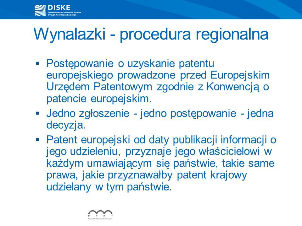 Wynalazki - procedura regionalna