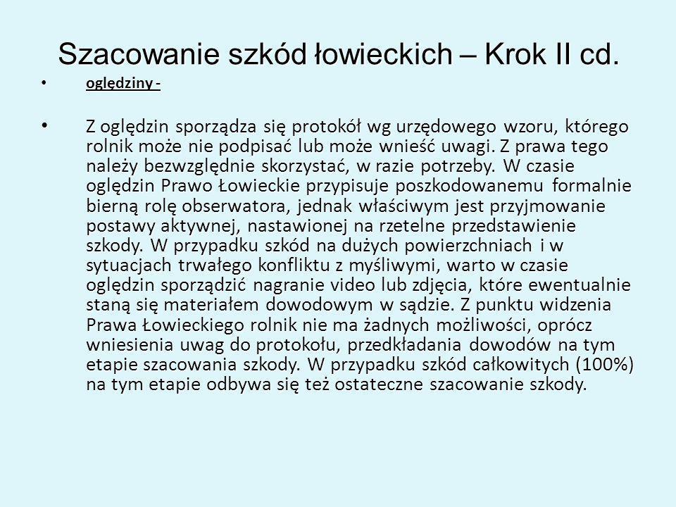Szacowanie szkód łowieckich – Krok II cd.