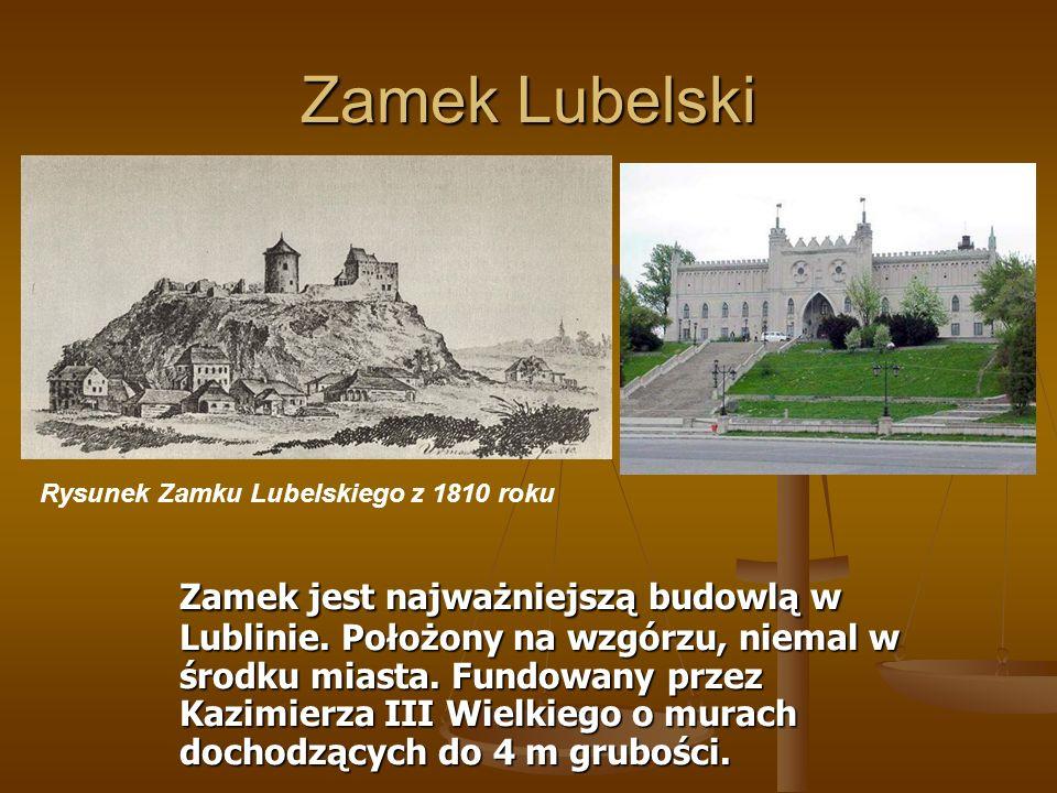 Zamek Lubelski Rysunek Zamku Lubelskiego z 1810 roku.