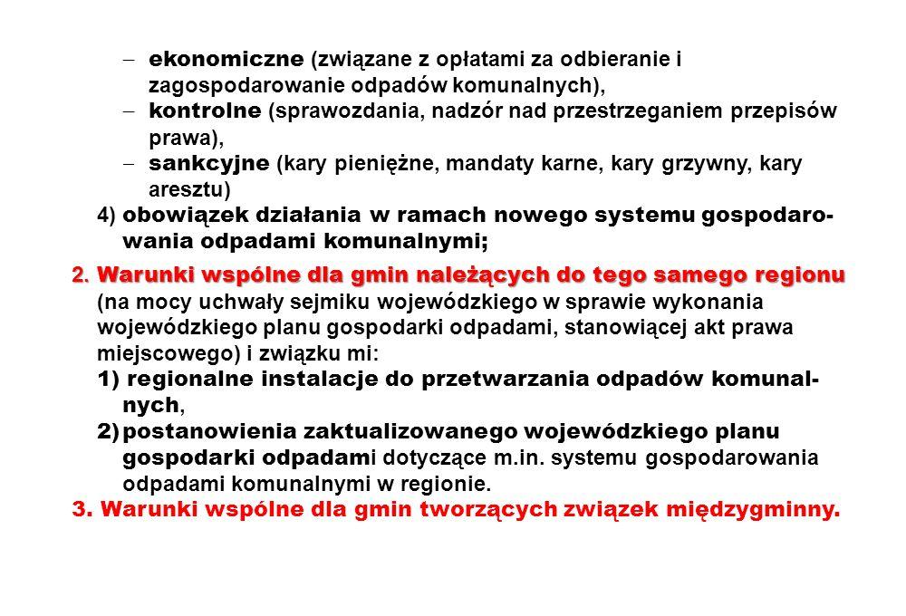  ekonomiczne (związane z opłatami za odbieranie i zagospodarowanie odpadów komunalnych),