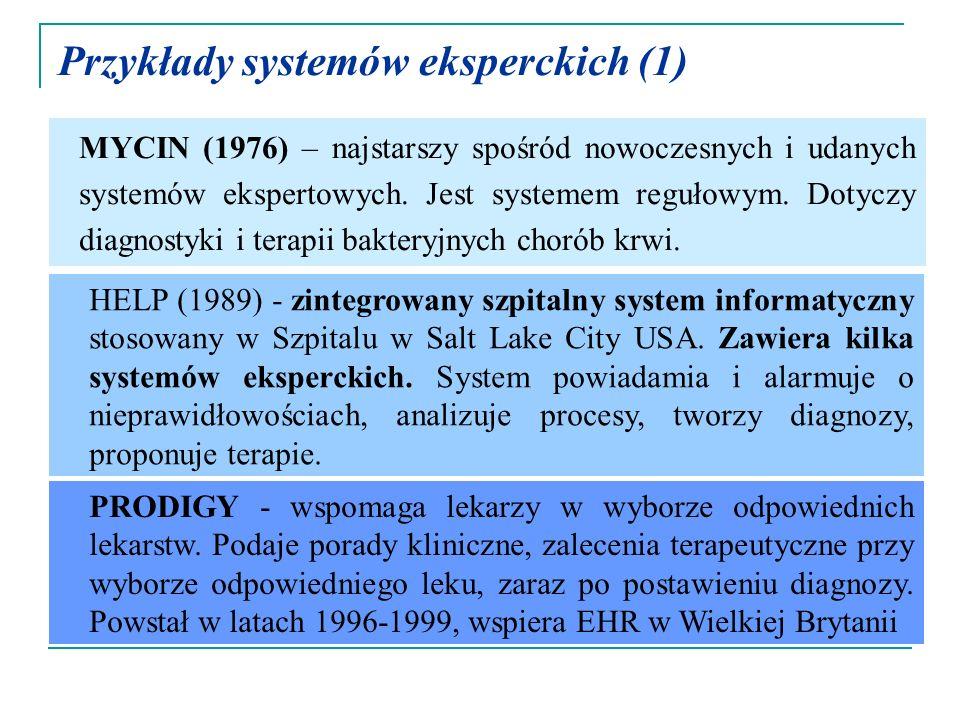 Przykłady systemów eksperckich (1)