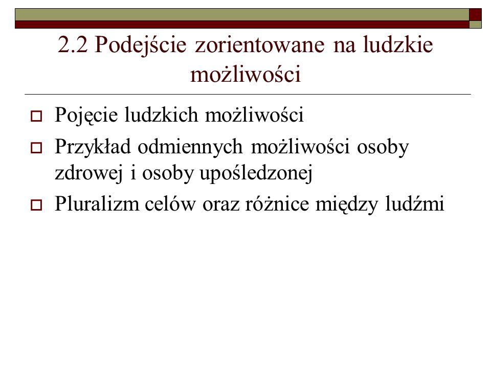 2.2 Podejście zorientowane na ludzkie możliwości
