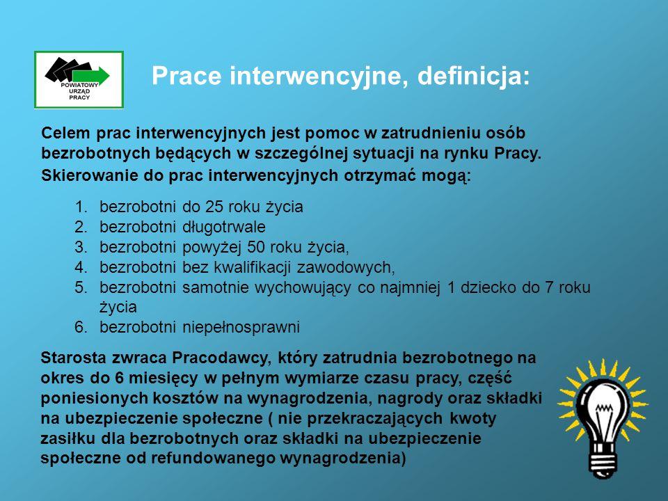Prace interwencyjne, definicja: