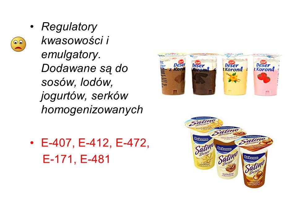 Regulatory kwasowości i emulgatory