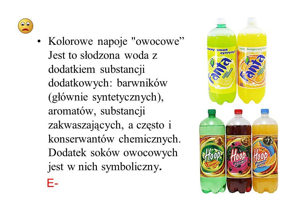 Kolorowe napoje owocowe